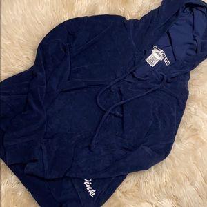 PINK drawstring valour sweater (navy)